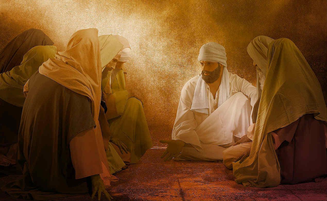 ezekiel sits with elders of Judah