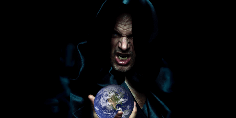 The Devil with the whole world in his hands