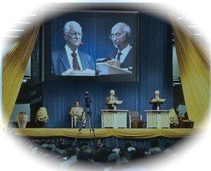 Governing Body speak on jumbotron