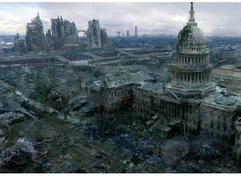 post-apocalyptic Washington D.C.
