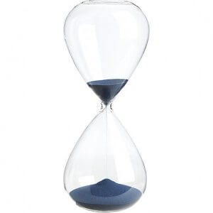 hourglass, running out