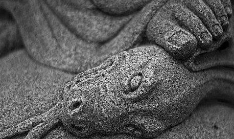 Jesus foot crushes head of serpent