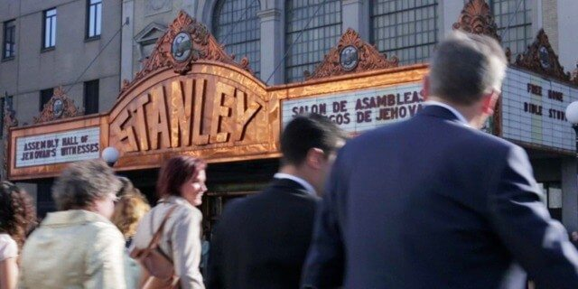Jehovah's Witnesses attending the Annual Meeting at the Stanley Theater