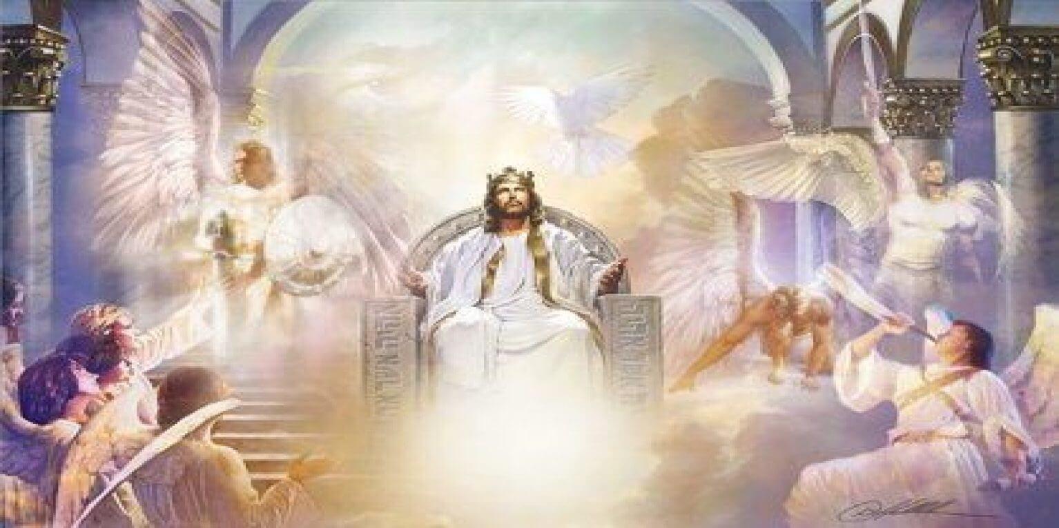 jesus on his throne