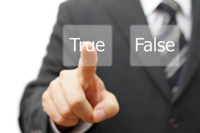 finger on the button must choose true or false