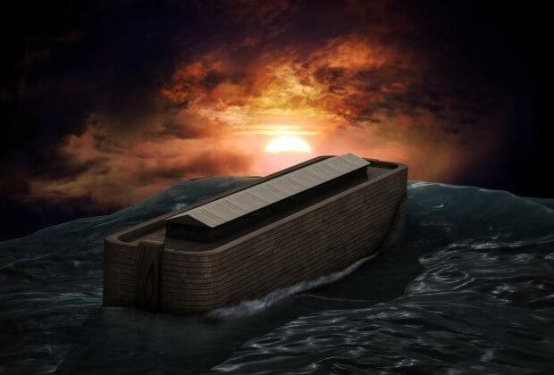 Noah's ark in the Flood