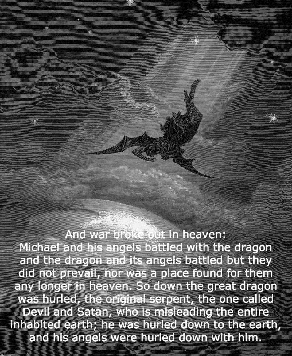 Gustave Dore Paradise Lost Satan is cast out of Heaven and is plunged into Hell