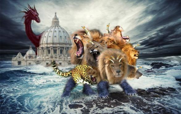 Revelation seven headed beast from the sea