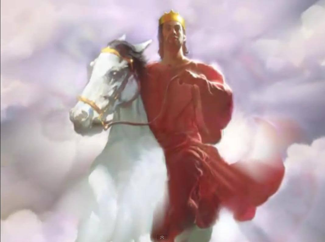 Jesus rides his heavenly steed