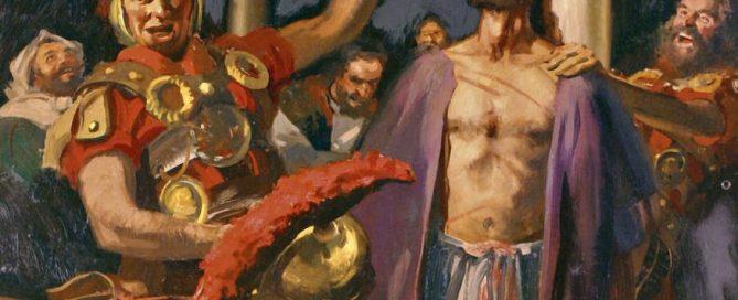 Jesus is mocked by Roman guards