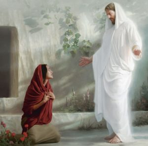 Jesus reveals himself to Mary at the tomb
