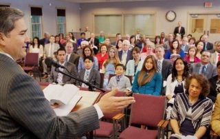 Jehovah's Witnesses meeting in kingdom hall - Watchtower image