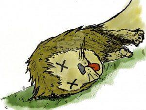 dead lion graphic