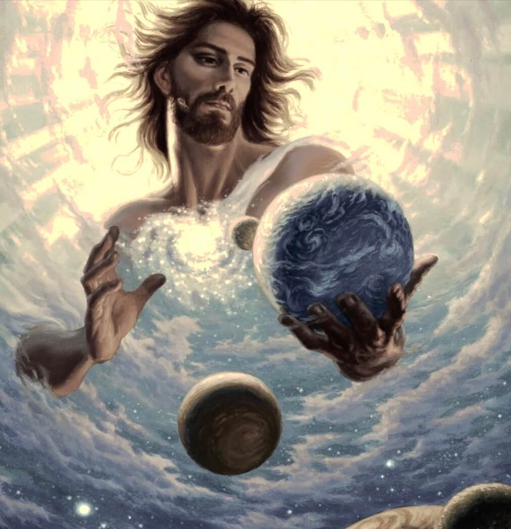 Jesus creates worlds