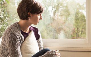 Watchtower image of depressed girl