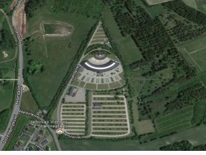 Silkebord congress hall appears as eye of Horus