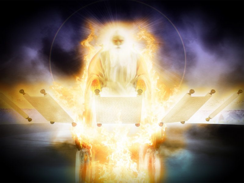 Jehovah sits enthroned
